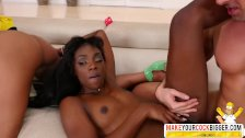 Thoughtful Step Mom Ana Foxxx And Misty Stone Ebony In Threesome