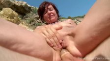 Slim Beauty Gets Drilled Hard On The Beach