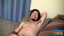 Slim butt buddy Samuel Phantom plays with his boner