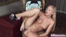Twistys - Naughrt blonde Barbie White rubs her clit