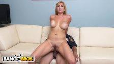 BANGBROS - Big Tits MILF Pornstar Jazmyn Fucks Lucky Security Guard