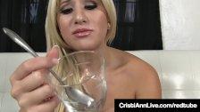 Hot Latina Cristi Ann Gives You Hot Cum Eating Instructions!