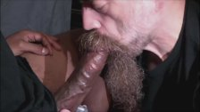 Daddy Blowing Huge Black Cock