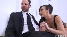Jennifer White Shows Off All Her Skills While Her Cuckold Husband Watches