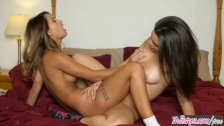 Twistys - Uma Jolie and Kimber Woods turn slumber party into pussy licking