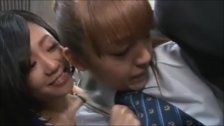 Japanese girl gets molested on the train by a lesbian