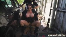 Milf and young girl rough in the window