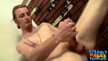 Cute and big dicked Kenneth Slayer masturbating alone