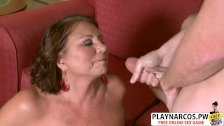 Chesty Mom Suzie Wood Gives Blowjob Hard Her Friend