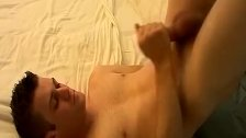 Naughty big dicked Bryce Corbin jacking his tool for jizz