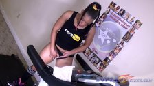 Ebony milf get off hard with her toys