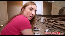Hot Young Teen Stepsister Stuck In Sink And Fucked By Big Brother