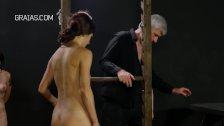 Cruel boob punishment