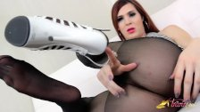 Stefani Special shows her hosed feet
