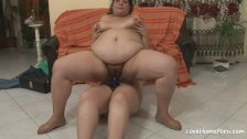 Saggy tits bbw riding a hard dick