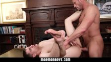 MormonBoyz - Sexy daddy gets serviced by a young missionary