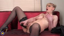 Horny housewife Helga playing with herself