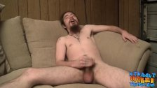 Bearded straight guy unleashing his load