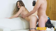 Fake Agent Sexy models tight pussy gets fucked on the casting couch