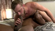 Hairy White Daddy CAN DEF Take This Muscle BIG Black Dick