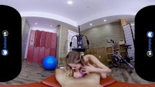 BaDoinkVRcom Gym Sex Workout With Blonde Teen Haley Reed
