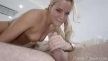 Hard-core anal penetration into hot Victoria Pure on FirstAnalQuest com