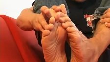 Gay boy takes his socks off and teases with his feet