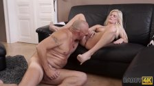 DADDY4K. Curious blonde wanted to try sex with experienced partner