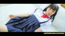 Cute Machida Misana Jav Debut Teen Teases Taking Off Her School Panties
