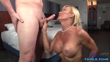 French shemale hardcore anal and cumshot