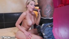 Petite Blonde Russian Takes That Rough BBC And Cumshot