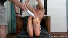 Handsome jock tied up and tickled until he starts to cry
