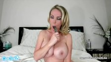 CamSoda - Nikki Benz Sexy MILF Masturbates and shows off her Big Tits