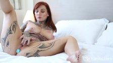 Yanks Tattooed Monte Cooper Masturbates