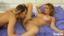 Step Mom Seduces Her Daughter And Gives Her Hot Lesbian Pointers In Bed