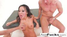 Asa Akira has a hot anal threesome