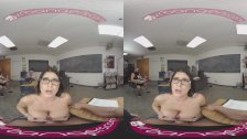 VRBangers Sexy Teacher Romi Rain Getting Rammed By A Sexy Stud VR Porn
