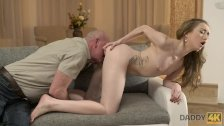 DADDY4K. Sex of dad and young girl finishes with unexpected creampie