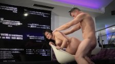 HITZEFREI Hot brunette Holly Banks picked up for a one night stand
