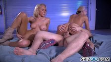 Spizoo - Sarah Vandella & Alix Lynx sharing a huge cock in hot threesome