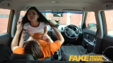 : Fake Driving School Sexy Japanese Rae Lil Black hot for instructors...