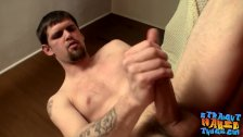 Straight thugs have a wrestling match before masturbating