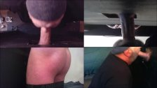 Blowing Super Fat Cock Twink In My Gloryhole 4 Ways