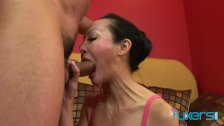Asian MILF Angie Venus anal