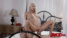 Naughty Emma Hix licked and riding after Amish seduction