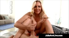 Step-Mom Julia Ann Gives Step-Son A Morning Handjob!