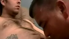 Amateur stud Brad smoking before fucking cocksucker Joe