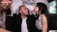 LETSDOEIT - Steak And Blowjob Treatment In The Sex Bus For German Amateurs