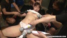 Japanese brunette with big tits, Eri Makino likes bondage, uncensored