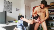 SUBMISSIVE STUDENT PUNISHED AND TIED UP GETTING HER MOUTH FUCKED DEEPTHROAT